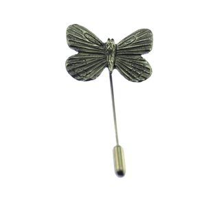 Large Pewter Butterfly Stick Pin